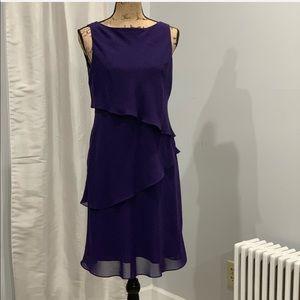 Jones Wear purple tiered dress size 6